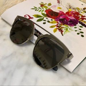 ALDO Silver Metallic Mirrored Lenses